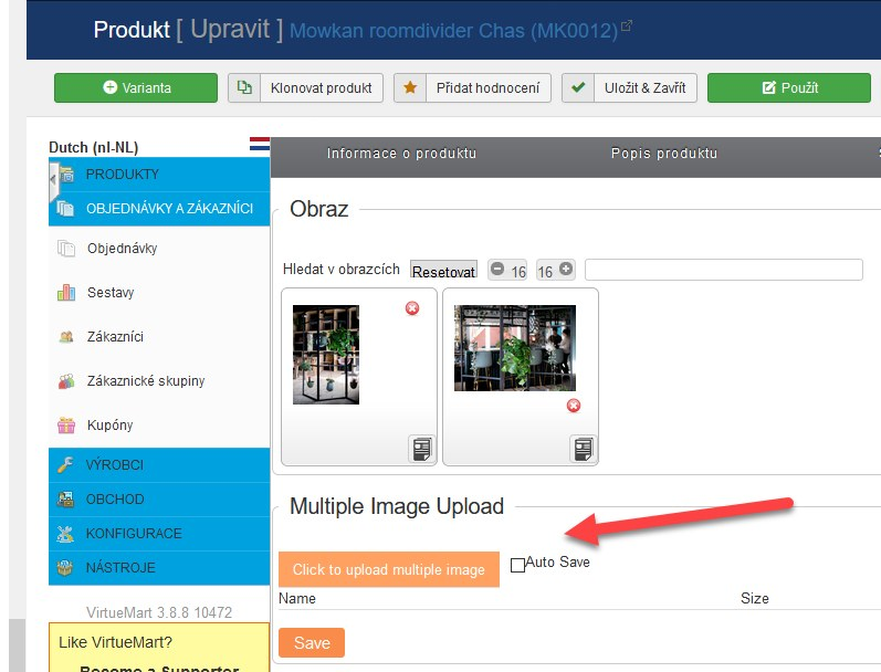 click to upload multiple images