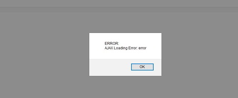 ajax loading error joomla