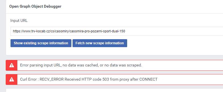 Facebook: Curl Error