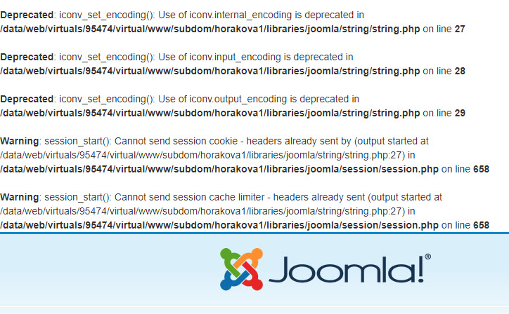 deprecated Joomla