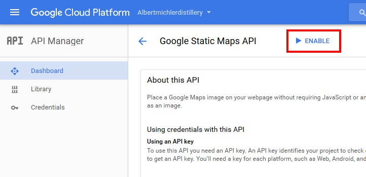 enable google static map api