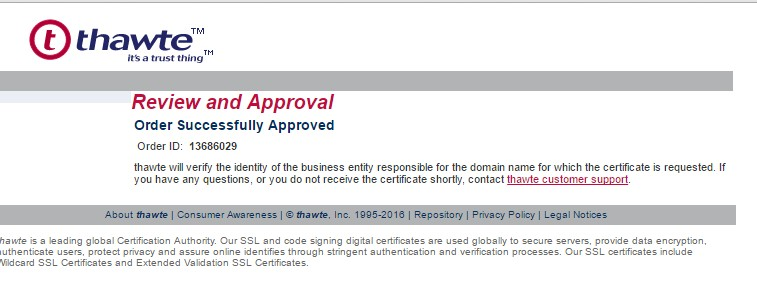 approved ssl