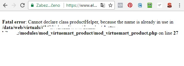 product virtuemart error