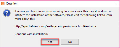 xampp antivirus yes