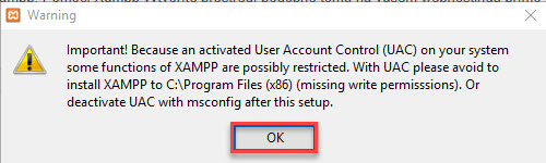 xampp warning ok